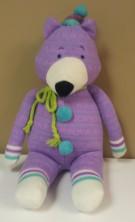 "Purple Baxter Bear 19""H $34.50"