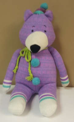 "Purple Baxter Bear 19""H $34.50"