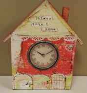 """6 5/8""""H Bless This Home Clock $39.00"""