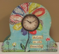 "6 5/8"" Believe Clock $39.00"