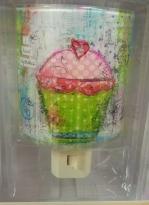 Cupcakes, Cupcake Night Light, Girls Room, Kids Room